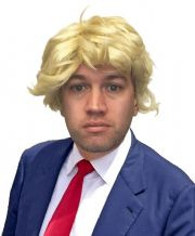 Funny Donald Trump Fancy Dress Blonde Wig